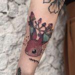 Mushroom Bunny Tattoo by @mylittleblueforest